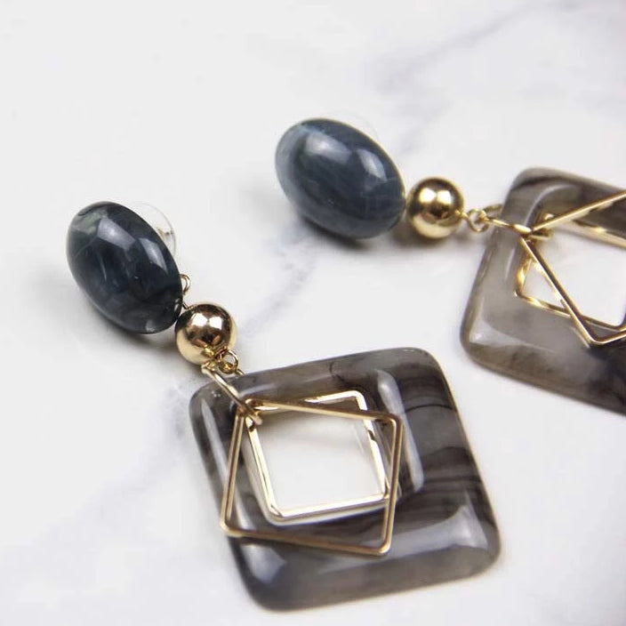 Geometric Drop Earrings - Sswing Lifestyle Company