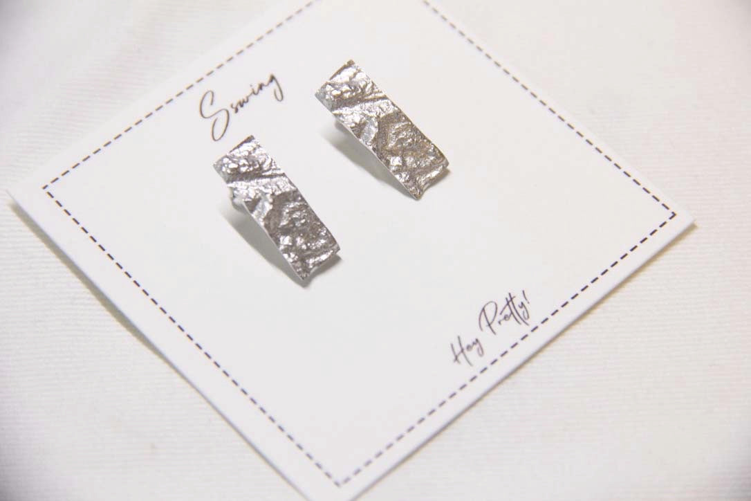 Fine Silver-Irregular Rectangle Earrings - Sswing Lifestyle Company