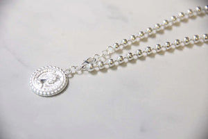 Fine Silver-Silver Coin Bead Chain Bracelet - Sswing Lifestyle Company