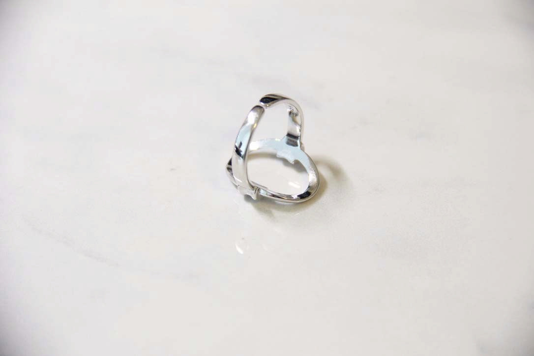 Fine Silver- Open Circle Adjustable Ring - Sswing Lifestyle Company