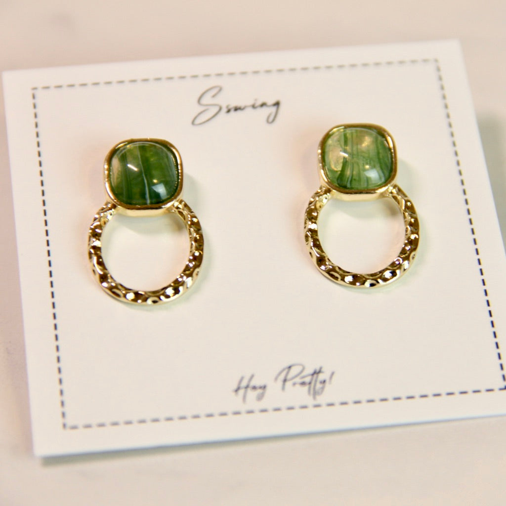 Vintage Circle Stud Earrings - Sswing Lifestyle Company