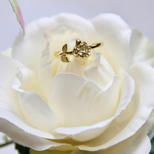 Fine Silver- Elegant Rose Open Ring - Sswing Lifestyle Company