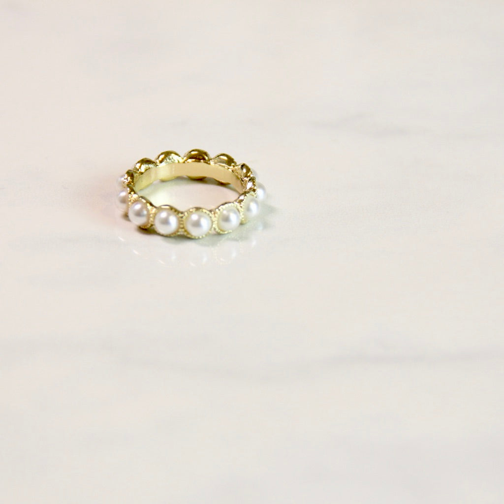 Mini Pearl Vintage Ring - Sswing Lifestyle Company