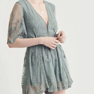 Sale!Lace Mini Romper - Sswing Lifestyle Company