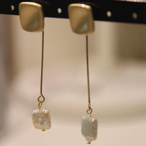 Gold Pearl Drop Earrings - Sswing Lifestyle Company