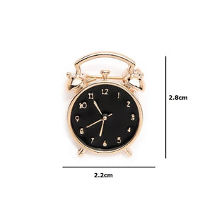 Vintage Alarm Clock Brooch - Sswing Lifestyle Company