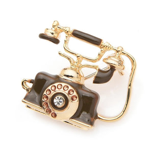 Retro Telephone Brooches - Sswing Lifestyle Company