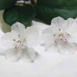 Sale! Transparent Sakura Shape Earring - Sswing Lifestyle Company
