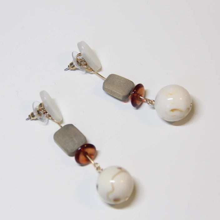 Acrylic Wooden Handmade Drop Earrings - Sswing Lifestyle Company