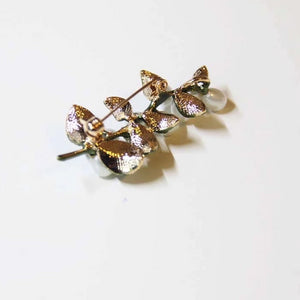 Vintage Pearl Leaf Brooches - Sswing Lifestyle Company