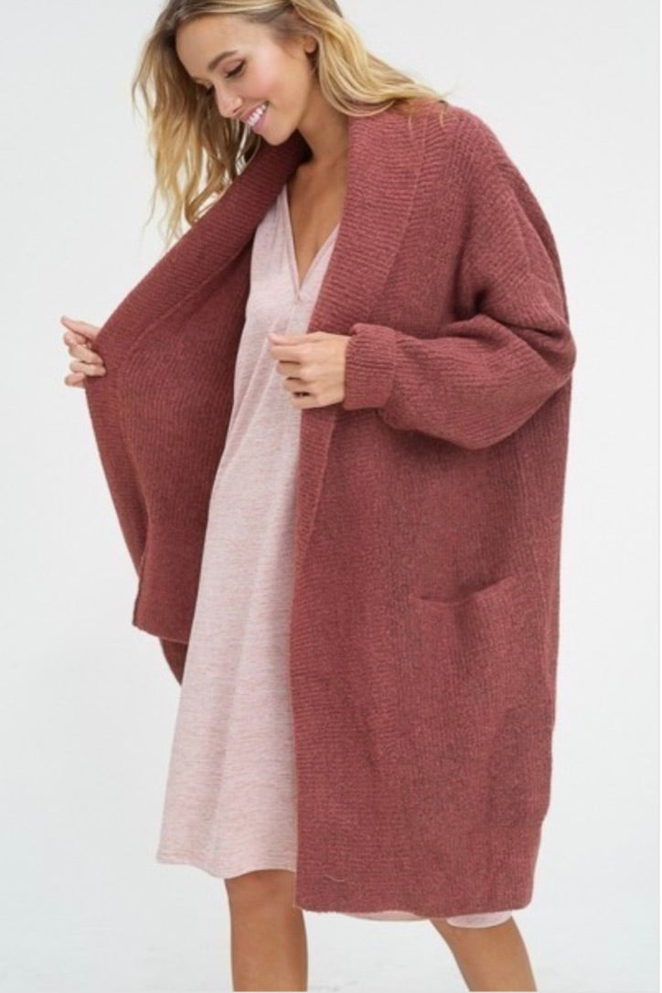 Soft cozy wool open cardigan - Sswing Lifestyle Company