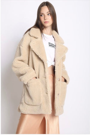 OVERSIZED TEDDY COAT - Sswing Lifestyle Company