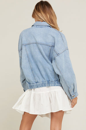 Oversize Washed Denim Jacket - Sswing Lifestyle Company