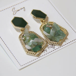 Vintage Crystal Stone Drop Earrings - Sswing Lifestyle Company