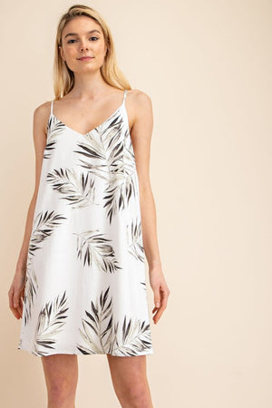 Sale! Linen Tropical Mini Shift Dress - Sswing Lifestyle Company