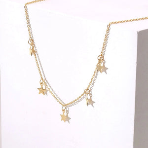 Stainless Steel Little Stars Choker - Sswing Lifestyle Company