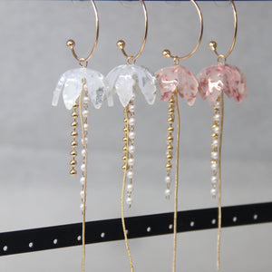 Elegant Long Acrylic Floral Drop Earrings - Sswing Lifestyle Company