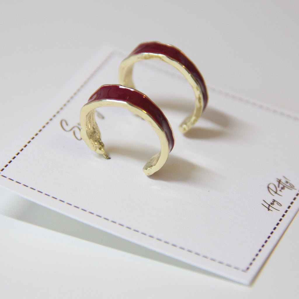 Metal Hoop Earrings - Sswing Lifestyle Company