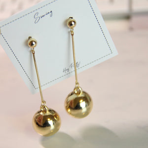 Geometric Metal Ball Drop Earrings - Sswing Lifestyle Company