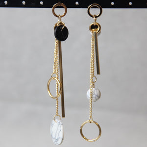 Asymmetric Geometric Circle Drop Earrings - Sswing Lifestyle Company