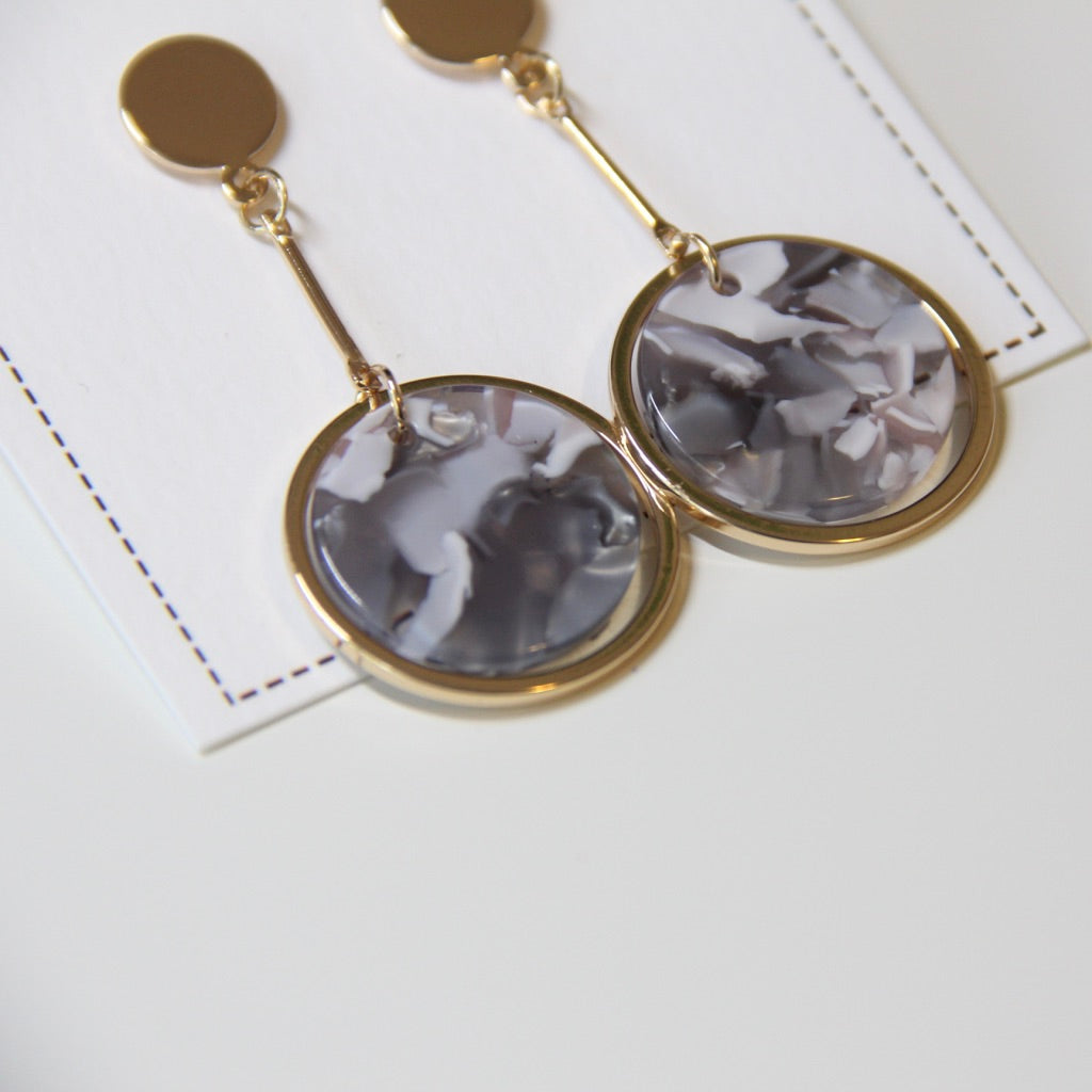 Acrylic Circle Elegant Drop Earrings - Sswing Lifestyle Company