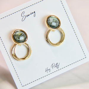 Circle Crystal Stud Earrings - Sswing Lifestyle Company