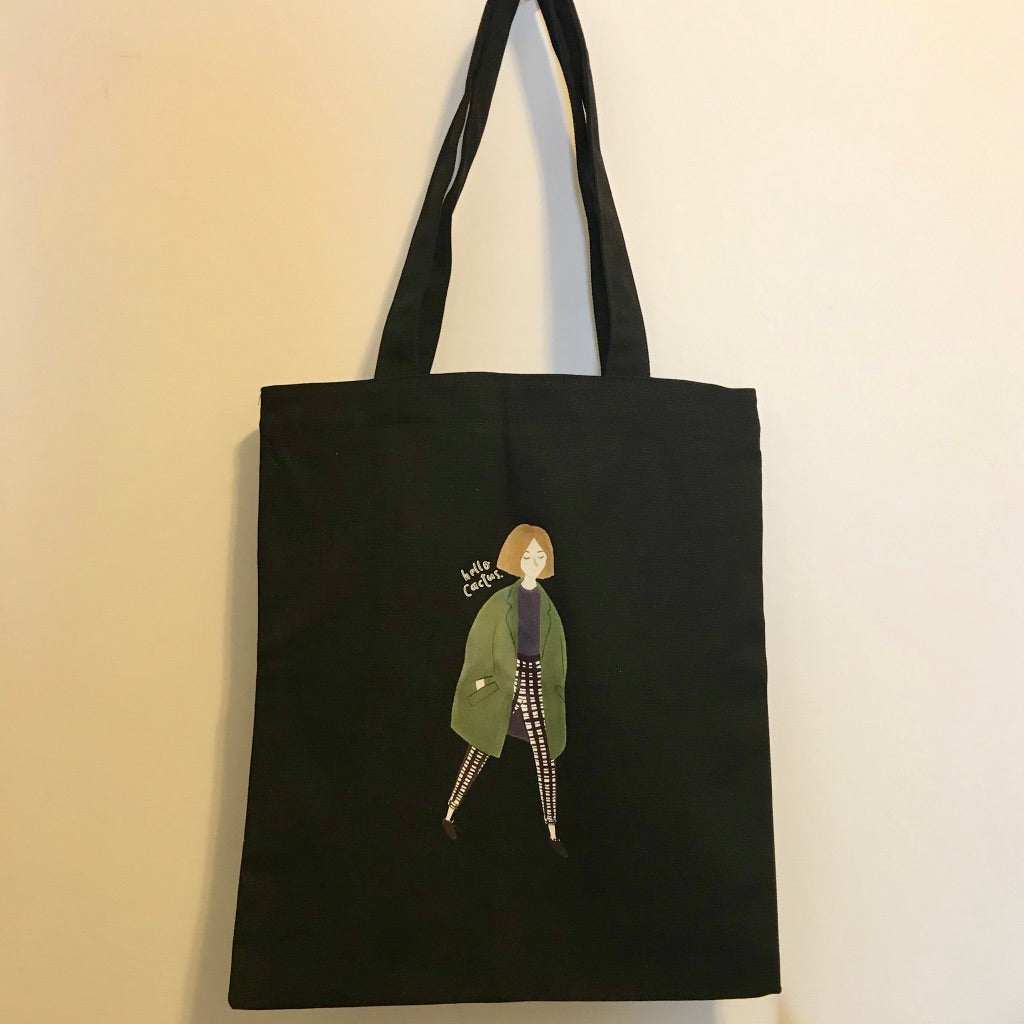 """Hello, Cactus""Canvas Tote Bag - Sswing Lifestyle Company"
