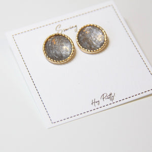 Vintage Round Stud Earrings - Sswing Lifestyle Company