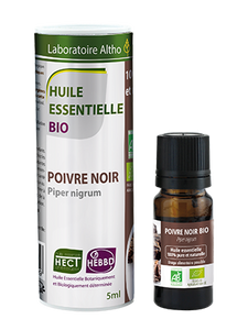 Buy organic Black pepper essential oil online in Ireland. 100% undiluted pure organic essential oil for Diffusing and aromatherapy massage.Certified organic Black pepper essential oil for sale in Ireland.