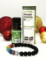 Load image into Gallery viewer, 7 Chakra Diffuser Bracelet - Peppermint Christmas Gift Set