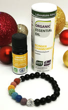 Load image into Gallery viewer, 7 Chakra Diffuser Bracelet - Roman Chamomile Christmas Gift Set