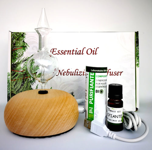 Essential Oil Nebulizing Diffuser Purifying Bundle