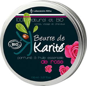 Shea Butter infused with Damask Rose Essential Oil - COSMOS Organic