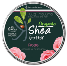 Load image into Gallery viewer, Organic Shea Butter infused  with Damask Rose Essential Oil Aromatherapy Ireland