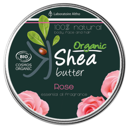Organic Shea Butter infused  with Damask Rose Essential Oil Aromatherapy Ireland