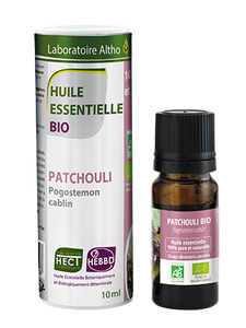 Patchouli Pogostemon Cablin - Certified Organic Essential Oil, 10ml buy in Ireland Organic aromatherapy online health and wellness store Laboratoire ALTHO
