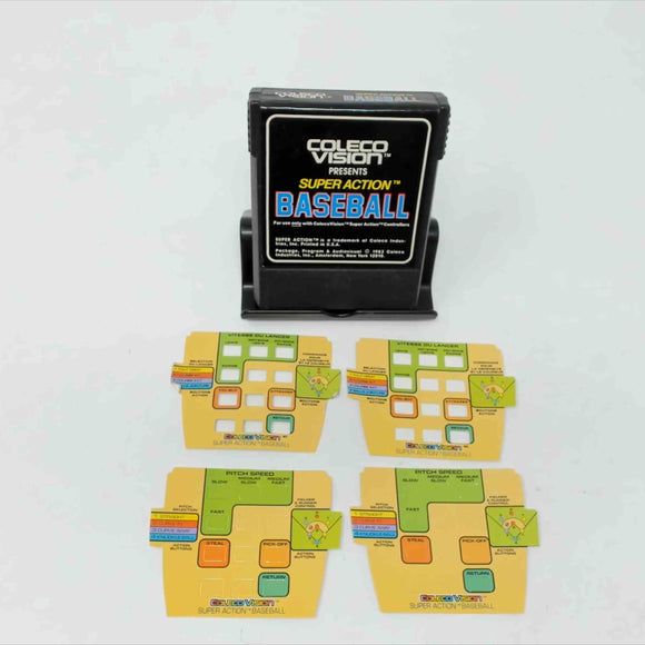 Super-Action Baseball + Overlays (Colecovision)