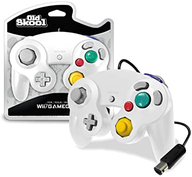 White Wired GameCube Controller [Old Skool]