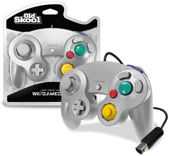Silver Wired GameCube Controller [Old Skool]