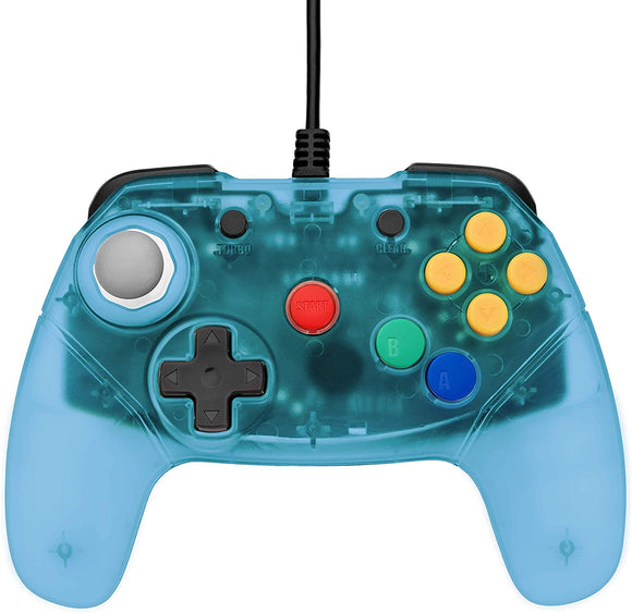Blue Brawler 64 Gamepad Next Gen N64 Controller [Retro Fighters] (Nintendo 64 / N64)