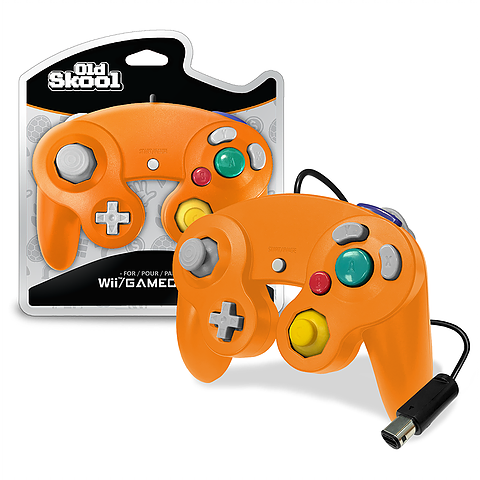 Orange Wired GameCube Controller [Old Skool] (Nintendo Wii / Gamecube)