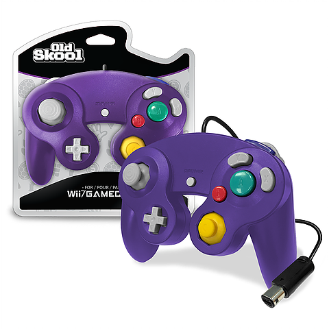 Purple Wired GameCube Controller [Old Skool] (Nintendo Wii / Gamecube)