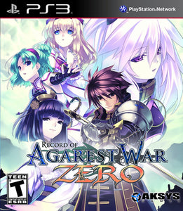 Record of Agarest War Zero (Playstation 3 / PS3)