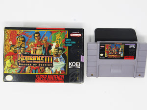 Romance of the Three Kingdoms III Dragon of Destiny (Super Nintendo SNES)