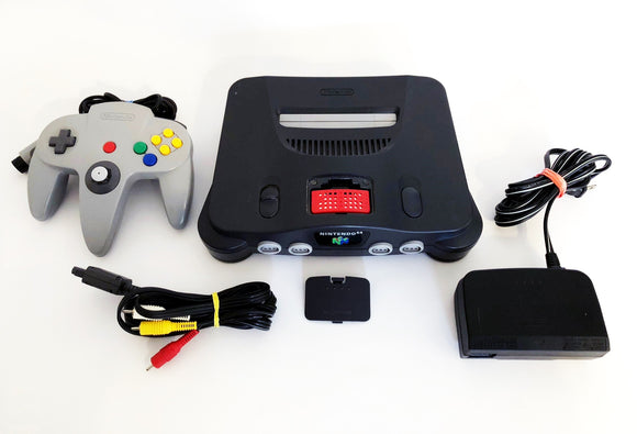Nintendo 64 System + 1 Official Gray Controller + Expansion Pak
