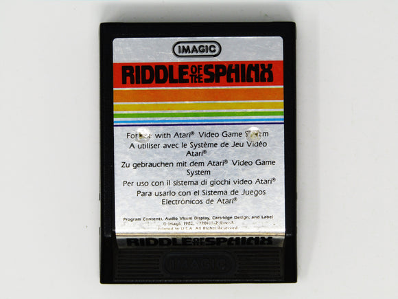 Riddle of the Sphinx [Text Label] (Atari 2600)