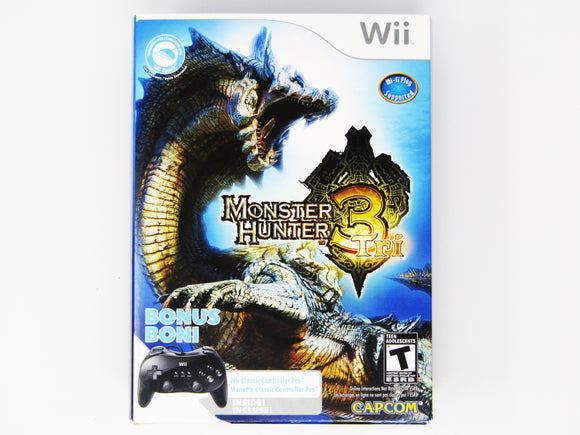 Monster Hunter Tri [Controller Bundle] (Nintendo Wii)
