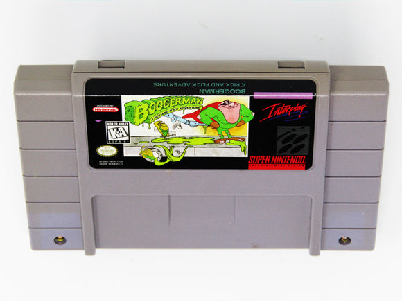 Boogerman A Pick and Flick Adventure (Super Nintendo / SNES)