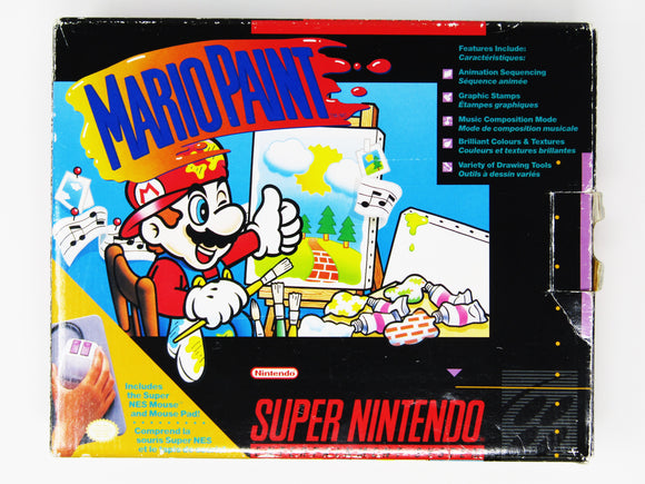Mario Paint [Mouse Bundle] (Super Nintendo / SNES)