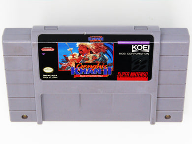 Genghis Khan II Clan of the Gray Wolf (Super Nintendo / SNES)